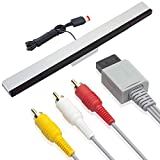 Wired Infrared Ray Sensor Bar with 6ft AV Standard Cable for Wii and Wii U Console