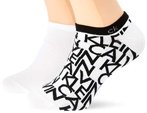 Calvin Klein Socks Mens Liner 2p Deangelo Socks, White, 43/46