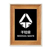 廃棄物分別処理 デスクトップ木製フォトフレームディスプレイアート絵画セット