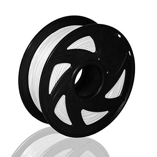 3D Filament White PETG 1.75mm 1KG Printer Filament 3D Printing Filament Consumables Accuracy +/- 0.02 mm XVICO