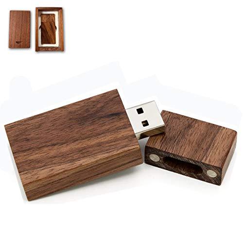 Wooden USB Flash Drive 64GB, EASTBULL USB 2.0 High Speed Walnut Wood USB Thumb Drives Memory Stick Pen Stick (1PCS-Brown)