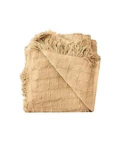 PURALGO. Multiusos, (Colcha, Cubre sofá, etc) Hecho en España. (Camel, 230X260cm)