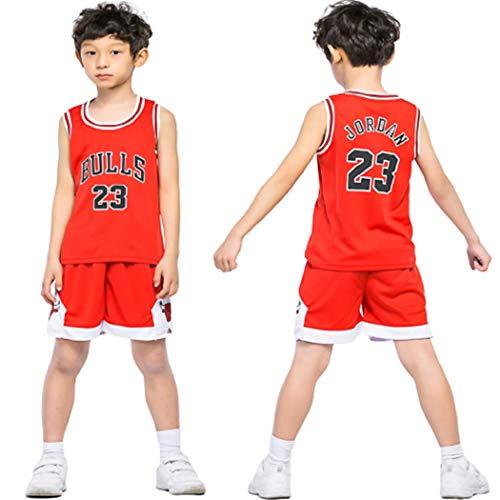 HUAXUN 23Jorden Jersey Camiseta baloncestotraje Entrenamiento Traje Deportivo para HombreBaloncesto ni?os (Rosso, XL)