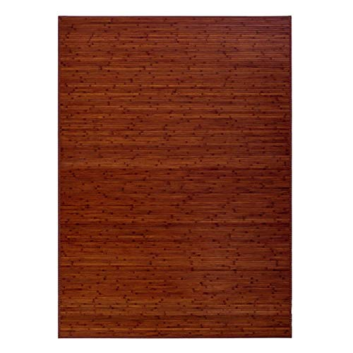 Alfombra Pasillera, Salón o Dormitorio, Color Nogal , Madera de Bambú Natural para Interior Color Marrón (140x180)