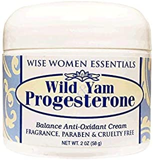 Wild Yam Progesterone Cream Bioidentical with Chaste Tree Berry (Vitex) for Balance. Paraben Free, Fragrance Free, Non GMO...