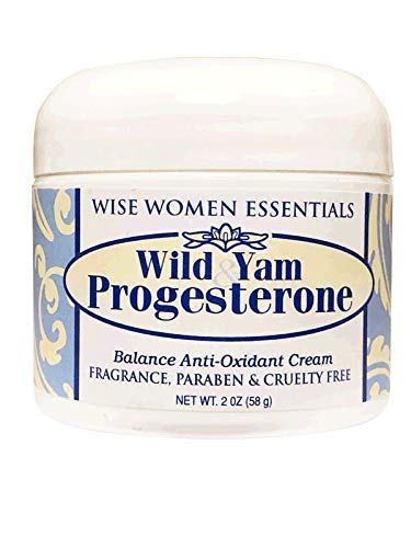 Wild Yam Progesterone Cream Bioidentical Progesterone for Balance. Paraben Free, Fragrance Free, Non GMO, Wise Essentials