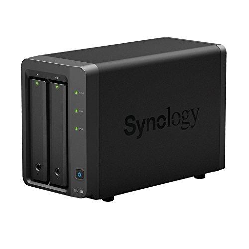 Synology DS215+ - Servidor NAS (1 GB de RAM, 1.4 GHz, 2 bahías, 2 x GBE)