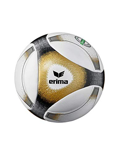 Erima Unisex– Erwachsene Hybrid Match Fußball, schwarz/Gold, 5