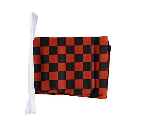 Digni Guirlande 15 drapeaux Damier Rouge-Noir - 5,9 sticker gratuit