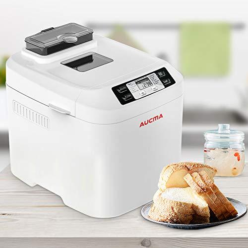 Automatischer Fastbake Brotbackautomat 12 Programm Backen Kastenmaschine mit Nusspender, glutenfreies Menü 0,9 kg Brotmaschine weiß - Umweltgesundheit - Energieklasse A