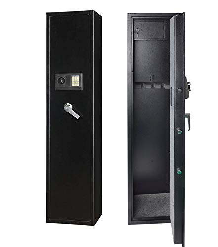 Rifle Safe Gun Safe Quick Access 5-Gun Shotgun Cabinet (Large Gun Safe-Numeric Keypad)