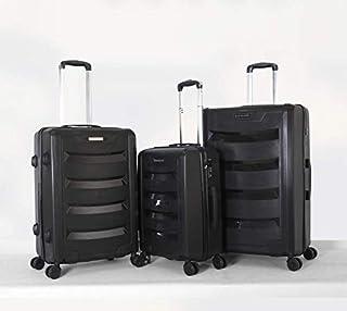 جيوردانو طقم حقائب سفر مع 4 عجلات , 3 حقائب , اسود - 25-0273