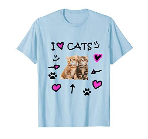 I Love Cats - I Love Kittens - Cat Lover T-Shirt Tee Shirt T-Shirt