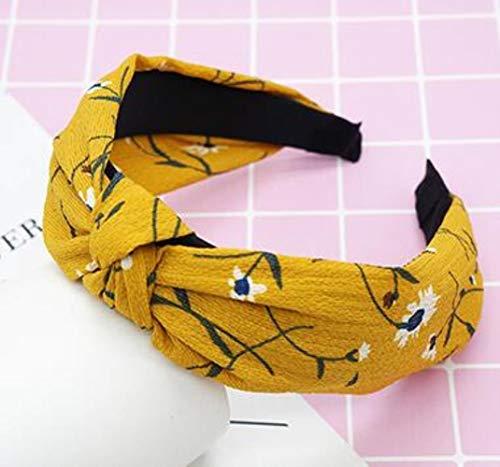Cheveux 1pc Top Noeud Noeud dans les cheveux Bandeau serre-tête élastique pour les femmes ornement de cheveux fleur Bandeau cheveux bande pour les filles,Comme l'image 1