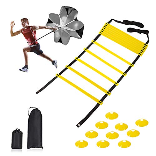 YardFine Agility Ladder Speed Training Equipment Set with a Resistance