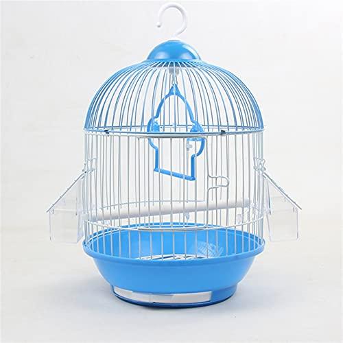 Gabbia per uccelli Piccolo Birdcage rotondo tigre pelle perla pappagallo ferro metallo uccello gabbia gabbia giardino accessori giardino decorazione all'aperto casa appesa all'aperto Gabbia Voliera