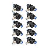 XUXUWA Conector de válvula de control de flujo de aire, 10 unids/set Push In Controlador de velocidad 6mm Control de flujo de aire neumático fácil instalación larga vida útil