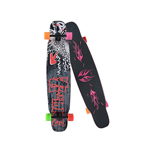 Affordable JESU Skateboards for Teens, Professional Double Tilt Skateboard Maple Road Brush Street D...