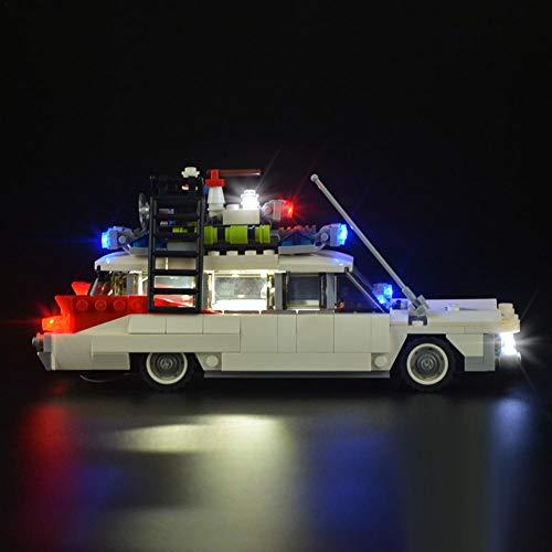Beleuchtungsset LED Bausatz DIY für Spielzeug Lego 21108 speziell Zubehör Spielzeug Modell – Set Ghostbuster Ecto Beleuchtung, LED Stromversorgung über USB (Modell nicht im Lieferumfang enthalten)