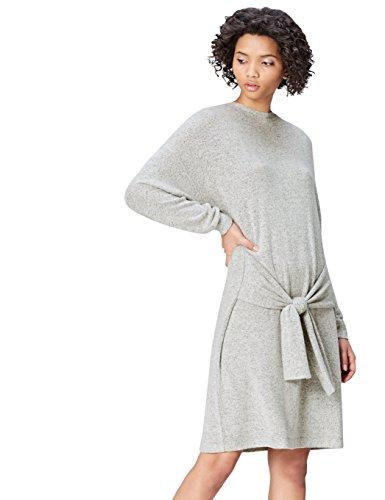 Amazon-Marke: find. Kleid Damen Oversize-Look mit langen Ärmeln, Grau (Grey Marl), 38, Label: M