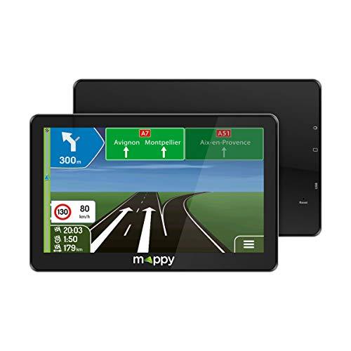 GPS Voiture - GPS auto - Mappy GPS Maxi E738 (Écran : 7 Pouces - 24 pays - Mise à jour gratuite jusqu'à 4 fois par an) Noir