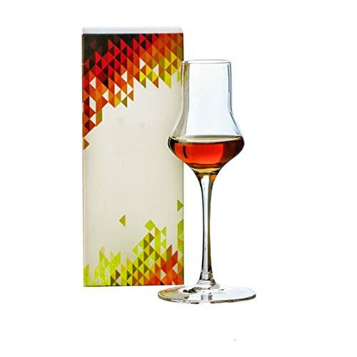 Goodvk Copa de Vino Tinto Whisky degustación de Cristal Vino Vino Sommelier Vino Licor Cristal Vino Vino Copa Decoración Elegante (Color : 2 Pieces, Size : 16.5x7cm)
