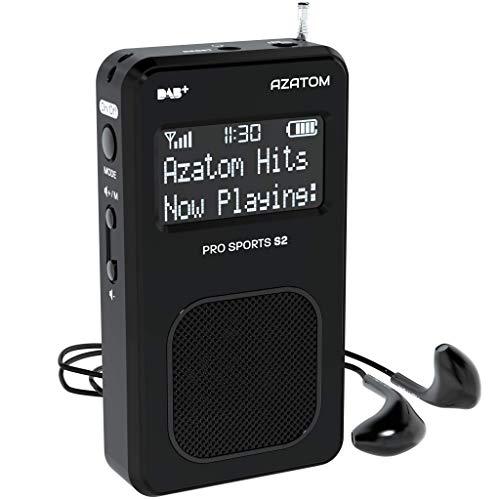 AZATOM Pro Sports S2 DAB Digital Portable FM Radio DAB DAB+ & FM - Built-in...