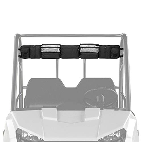 UTV Roll Cage Organizer, kemimoto Roll Cage Cargo Storage Bag Gear bags Compatible with Polaris Ranger RZR, Honda Pioneer- Most Full Size UTVs