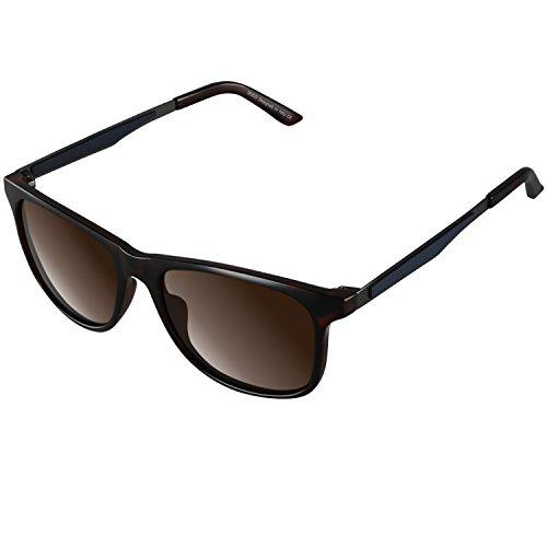 DUCO Herren oder Damen Polarisierte Square Sonnenbrille mit Verlaufsglas für Radfahren Fahren 3030 (Tortoise)