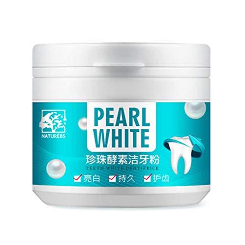 Zahnaufhellungspulver , Zahnreinigungspulver, Zahnaufhellungspulver Natural Pearl Power Mundgeruch Zahnstein Tee Flecken Entfernen von Zähnen White Dentifrice