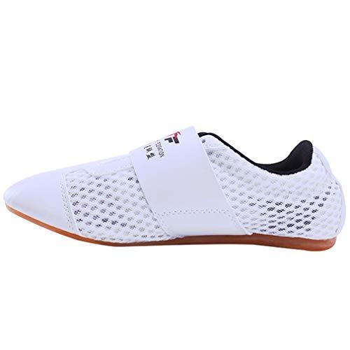 Herren und Damen Atmungsaktive Kampfsportschuhe Mesh Taekwondo Schuhe Weiche Sohle Training Anfänger Erwachsene Kinder Gr. 26, B