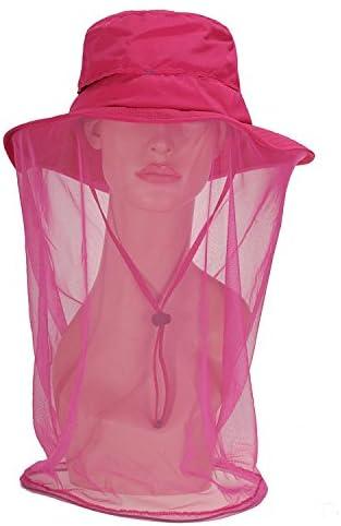 Unisexe Chapeau de Soleil Homme Femme 360° Protection Solaire Anti-UV Casquette Visière avec Moustiquaire Anti-insect...