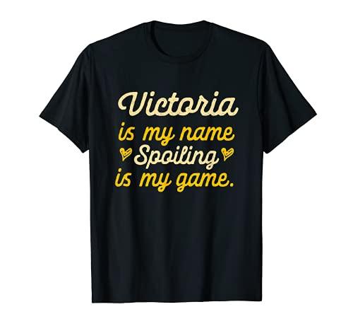 Victoria is My Name Divertido Nombre Humor Apodo Camiseta