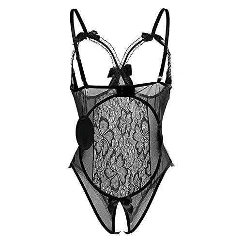 MUMUMI Ropa Interior, Ropa de Dormir Ropa Interior Ropa Interior Ropa Transparente Abierto Sujetador Abierto Lencería Porno Ropa Interior,Negro