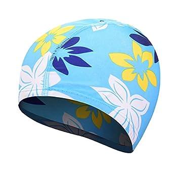 QWSX Bonnet de Bain Chapeau de Natation Femmes Filles Unisexes Cheveux Long Cheveux baignoires Capuchon Piscine Stretch drapé drapé Nature Piscine Piscine Sport Nylon Nylon Turban Confortable et Doux