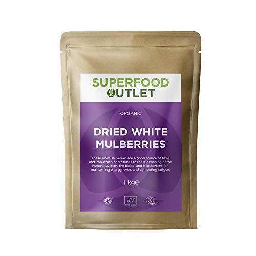 Bio getrocknete Maulbeeren | 1 kg | Superfood Outlet