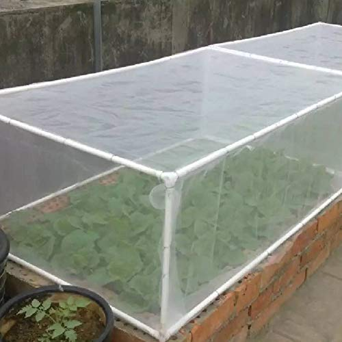 Matedepreso Garden Vegetable Insects Protective Mesh Bird Net Outdoor Plant Crops Greenhouse(6x2.5m)
