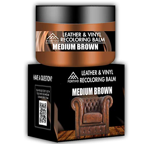 FORTIVO Brown Leather Repair Kits for Couches - Leather Color Restorer for Furniture, Car Seats,...