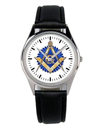 Freimaurer Wappen Geschenk Artikel Idee Fan Uhr B-1126