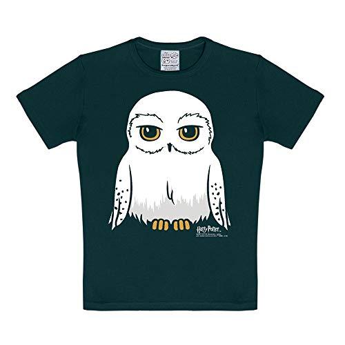Logoshirt - Harry Potter - Eule - Hedwig - T-Shirt Kinder - schwarz - Lizenziertes Originaldesign, Größe 158-164