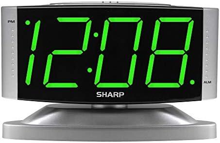 Sharp Home LED Digital Alarm Clock Swivel Base Outlet Powered Simple Operation Alarm Snooze product image
