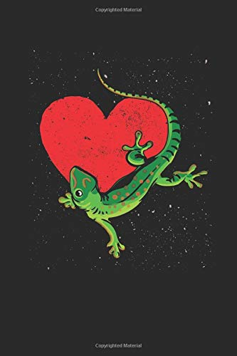 Lizard Heart: Animal Lover Gift Idea - Blank Lined Notebook / Journal (6 X 9 -120 Pages)
