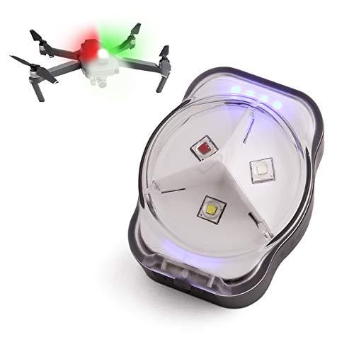 LUCORB Drone Anti-Collision Strobe Light FAA Night Flight Drone Led Lights with Battery Indicators,300mAh 3 Colors 4 Modes, Fits DJI Mini, Mavic air 2, Mavic Pro, Phantom, Inspire, Zoom