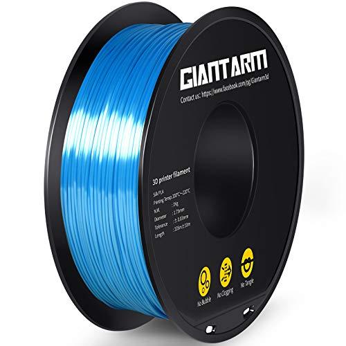 GIANTARM Filamento PLA 1,75 mm Silk azul cielo, impresora 3D filamento PLA 1 kg Spool…