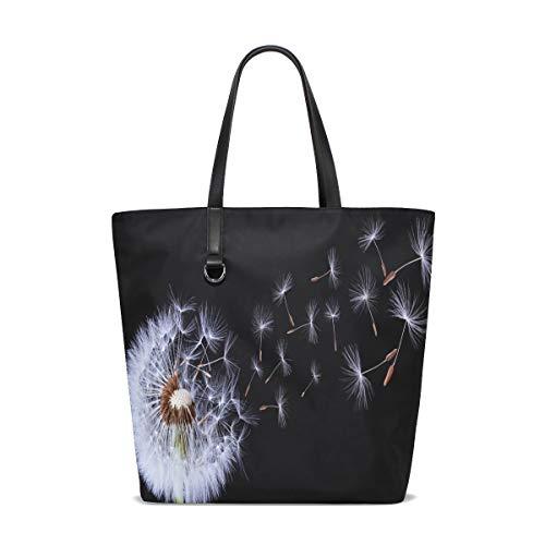 BKEOY große Damen-Hand-Schultertasche, Pusteblume Tote Shopper Organizer Taschen