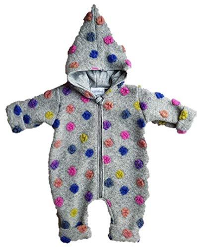 Trocadero Winter Baby Wollanzug Grau gepunktet handgemacht warm Wollwalk