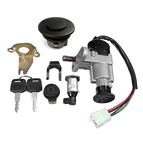 Interruptor De Encendido,Interruptor De Encendido Conjunto de interruptores de Llave de Encendido para Scooter de Gas 50cc 150cc 13 9QMB GY6 Ciclomotor