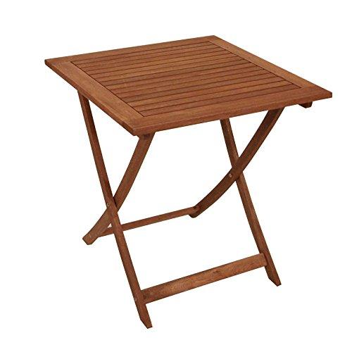 Klapptisch CORDOBA 70x70cm Eukalyptus geölt FSC®-zertifiziert Gartenmöbel Gartentisch Tisch