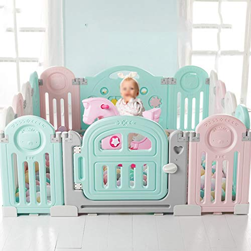 Buy Discount Playard Baby Playpen Large Baby Game Fence – Baby Houses Play Pen Fence – Portable Room Divider Child Kids Barrier (Size : 20 Panels – 182x210cm)