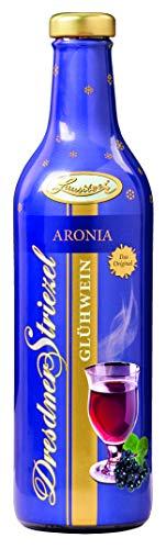 Dresdner Striezel Glühwein Aronia-Fruchtglühwein in der metallisierten Vollsleeve Flasche mit dem Motiv des Dresdner Zwinger 6 x 0,75 l